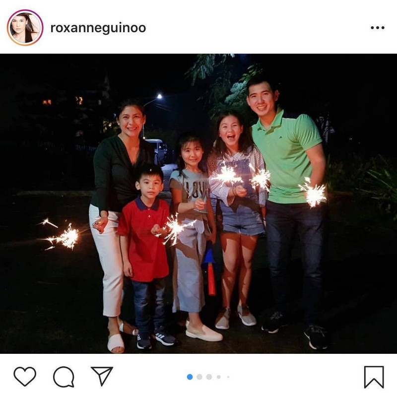 Priceless! Roxanne Guinoo with her picture-perfect family